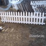 Picket Fence with Pointed Tops