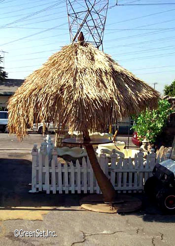 Palapa With Fiberglass Palm Trunk