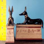 Egyptian Anubis Dog Sitting