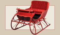 Sleigh: #113 Antique, Metal & Fiberglass