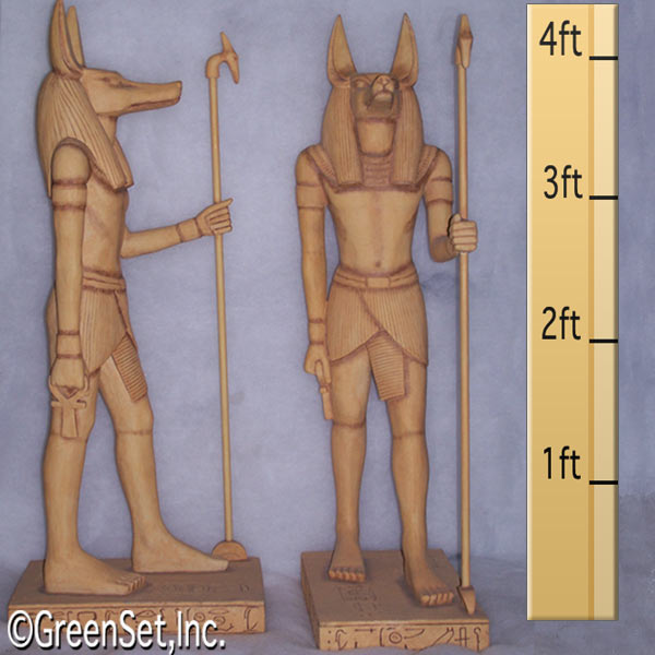Egyptian God Anubis in Egyptian Statues